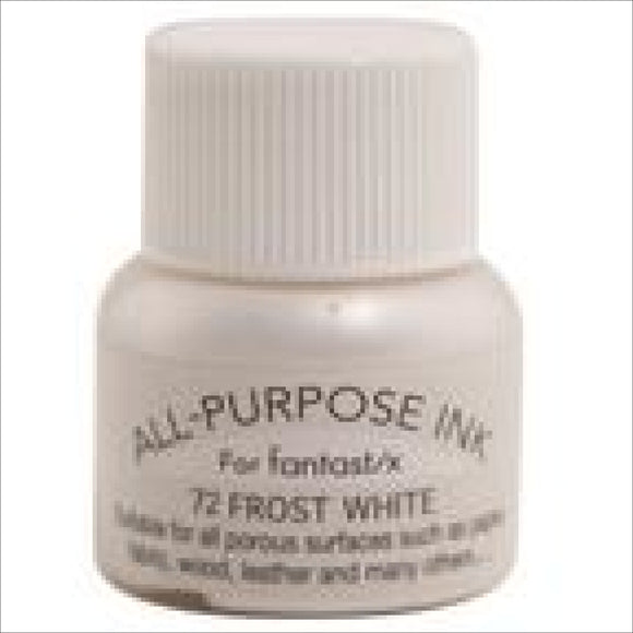 Tsukineko All Purpose Ink Metallic Frost White 072 Thread Art Supplies