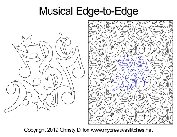 Musical (Edge To Edge Mail In Quilting Service Deposit) Services