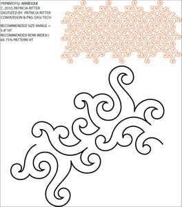Arabesque (Edge to Edge Mail in Quilting Service Deposit)