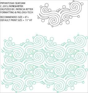 Seafoam  (Edge to Edge Mail in Quilting Service Deposit)