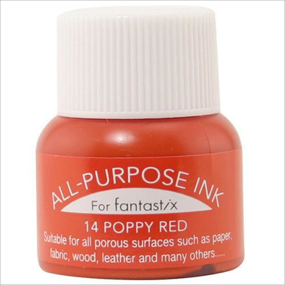 Tsukineko All Purpose Poppy Red 014 Thread Art Supplies