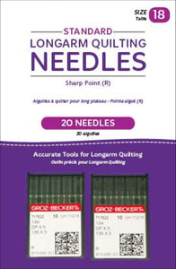 Standard Longarm Needles Two Packages Of 10 (18/110-R Sharp)