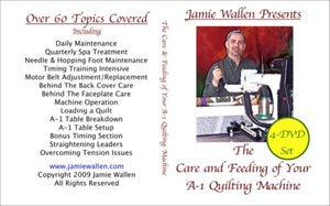 Care And Feeding Of Your A-1 Quilting Machine Dvd Workshops