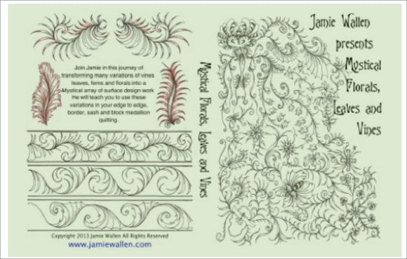 Mystical Florals Leaves And Vines Sliders Practice Sheets Download. Dvd Workshops