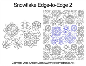 Snowflake (Edge To Edge Mail In Quilting Service Deposit) Services