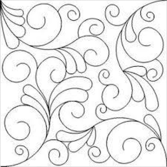 Swirls And Feathers 3 (Edge To Edge Mail In Quilting Service Deposit) Services