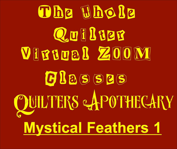 Mystical Feathers 1 Virtual Zoom Class November 9, 2020 10AM CST Class 2003