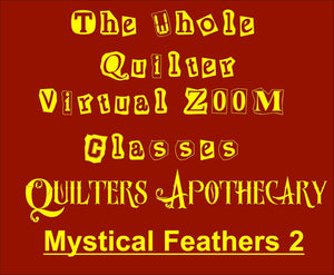 Mystical Feathers 2 Virtual Zoom Class January 9, 2021. 10AM CST Class 2104