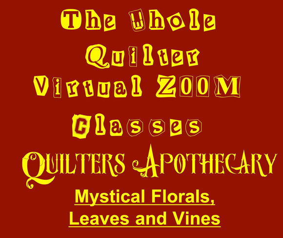 Mystical Florals, Leaves and vines Virtual Zoom Class November 21, 2020. 10AM CST Class 2006