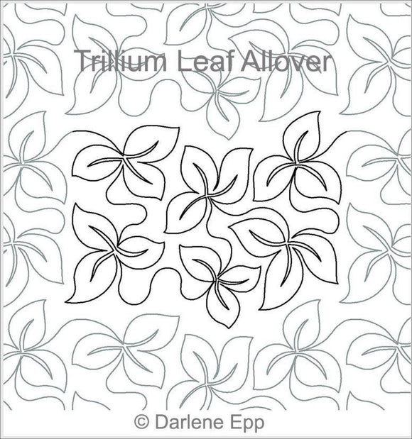 Trillium Leaf (Edge To Edge Mail In Quilting Service Deposit) Services