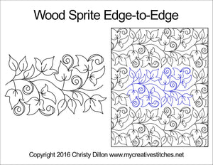 Wood Sprite (Edge To Edge Mail In Quilting Service Deposit) Services