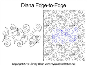Diana (Edge To Edge Mail In Quilting Service Deposit) Services