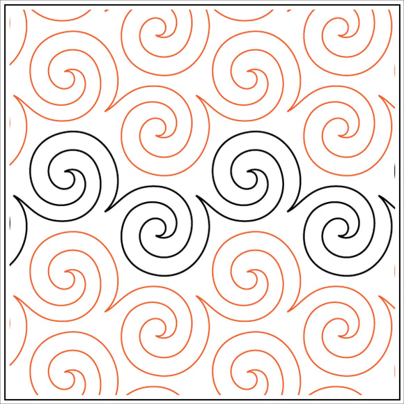 Basic Swirl  (Edge to Edge Mail in Quilting Service Deposit)
