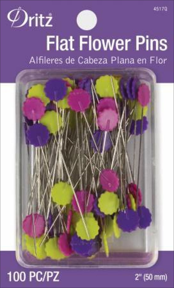 Flat Flower Pins 100Count