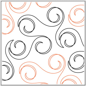 Swirling Vine  (Edge to Edge Mail in Quilting Service Deposit)
