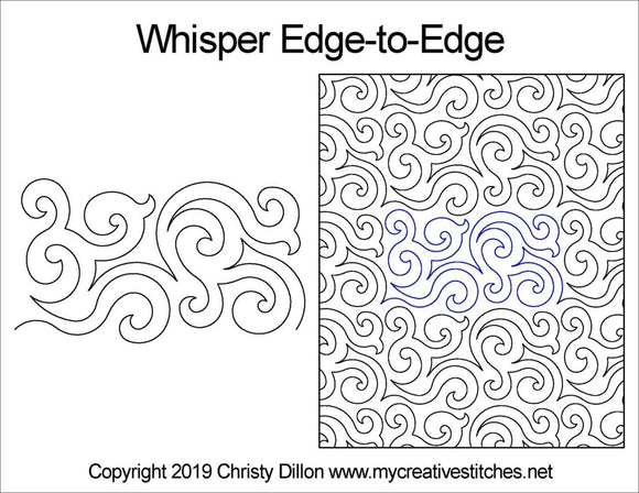 Whisper (Edge To Edge Mail In Quilting Service Deposit) Services