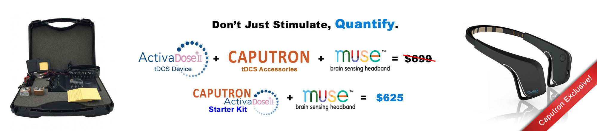 Activadose tDCS Device with Muse EEG Headband - Caputron EEG and tDCS Devices and Accessories