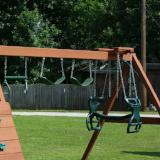 Playset Accesories - 2 Swings & Trapeze Bar - Green