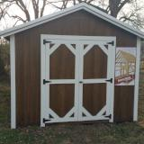 10X16 A-Frame / Utility Urethane Finish with Metal Roof