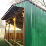 Pre-Owned 12x24 Horse Barn/Loafing Shed/Farm Shed/Green/BR