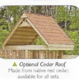 Playset Option - Cedar Roof for Clubhouse Base Unit