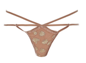For Love and Lemons Golden Garden Thong