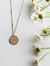 Gold Disc Mama Necklace