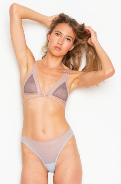 Whisper Color Block Tri Bralette