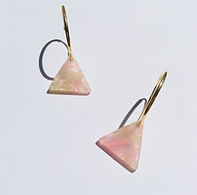Hoops with Pink Triangle