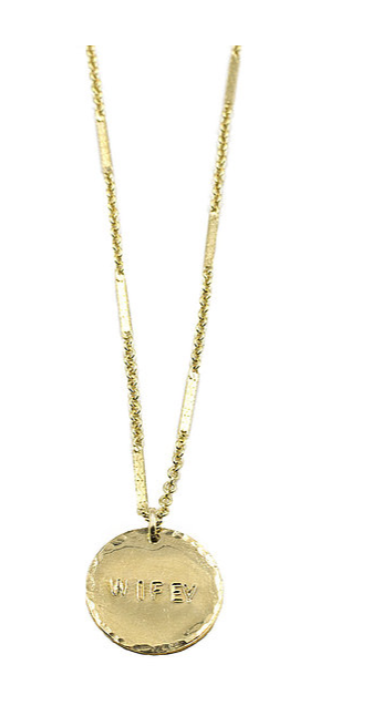 Wifey Gold Coin Necklace
