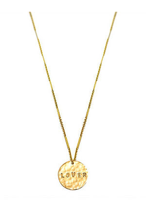 Gold Disc Lover Necklace