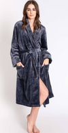 Charcoal Luxe Plush Robe