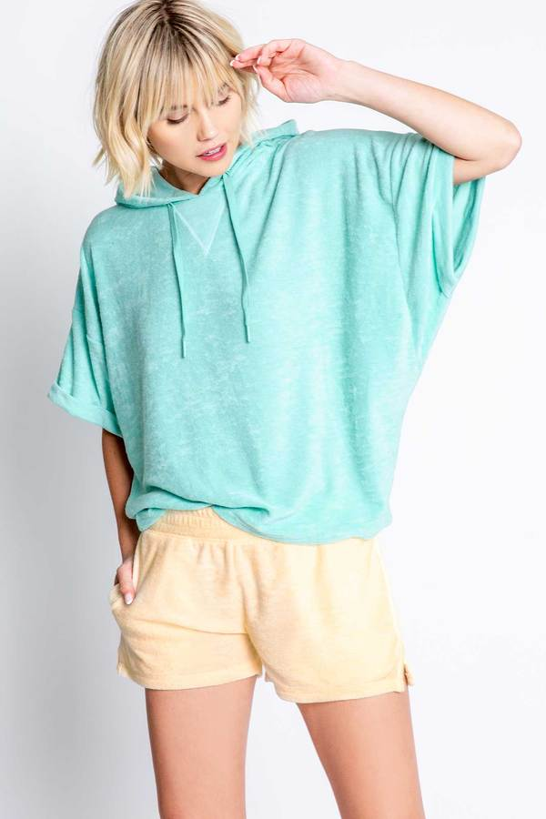 Beach Bound Terry Short Sleeve Hoody