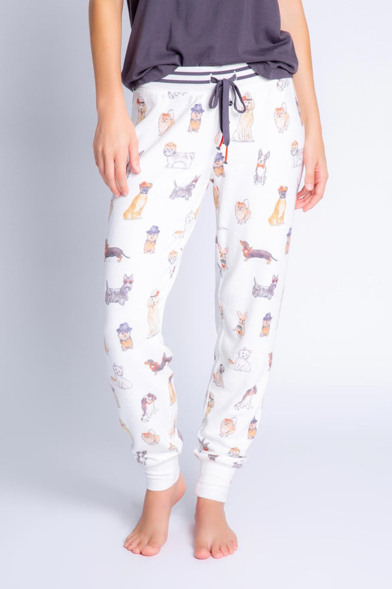 Dog Lovers Banded PJ Pant