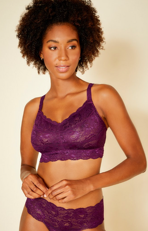 Curvy soft bra in Deep Purple