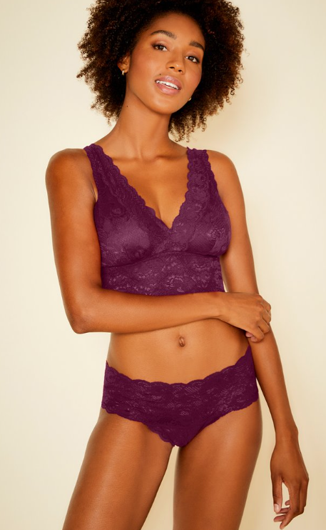 Curvy Plungie Longline in deep purple