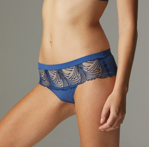 Nuance Boyshort Panty in Denim Blue