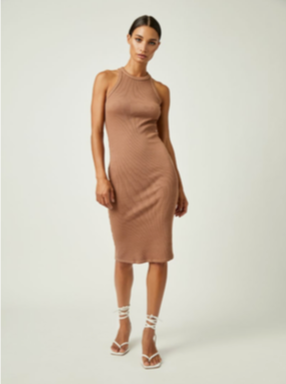 Racerback Dress In Terracotta