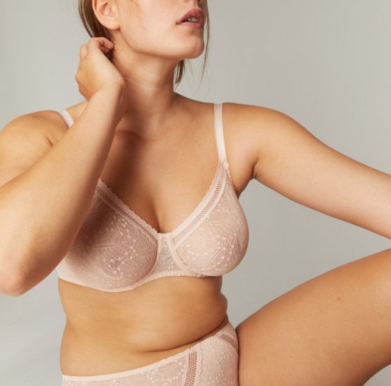 Comete Molded Full Cup Bra In Pink Sand