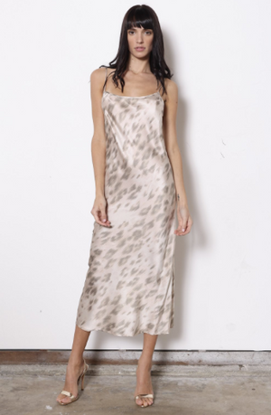 Nude Kitty Silk Midi Dress