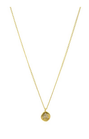 Sparkle Gold Filled Initial Necklace