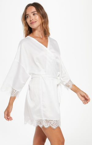 Best Day Ever Robe In Pearl White