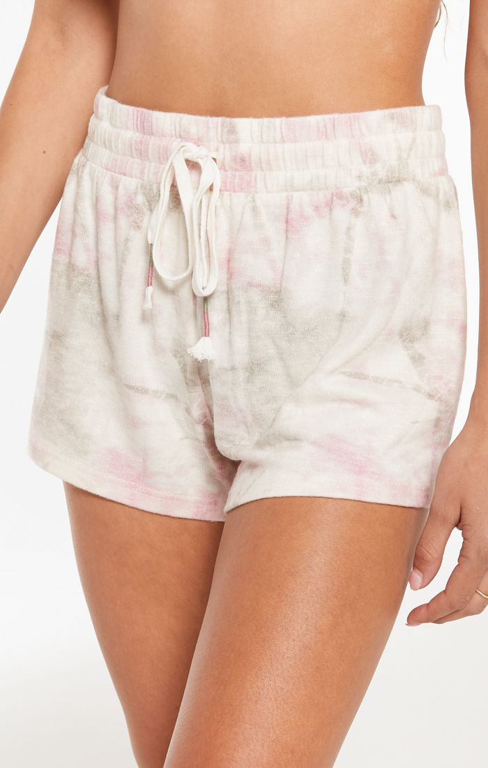 Seaside Tie Dye Short In Bone