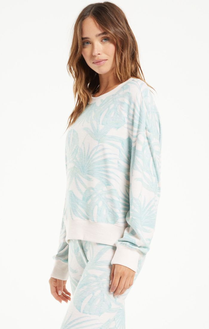 Elle Palm Long Sleeve Top