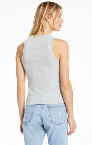 Sirena Rib Tank In Heather Grey