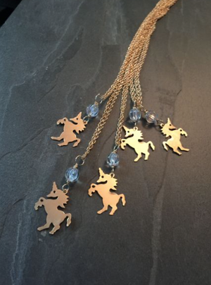 14K Gold Fill Unicorn Necklace