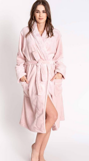 Plush Luxe Rose Robe