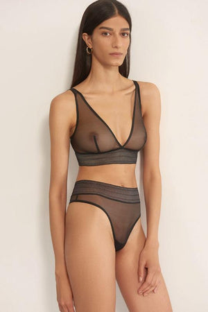 Bare Soft Plunge Bra in Black