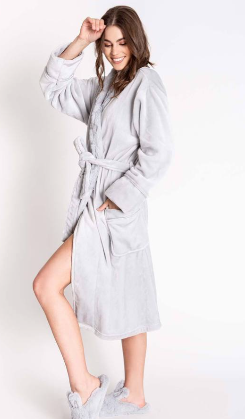 Light Grey Luxe Plush Robe