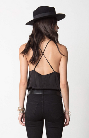 HIgh Neck Strappy Top